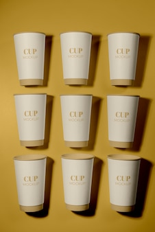 Einweg-coffeeshop-elemente-sortiment