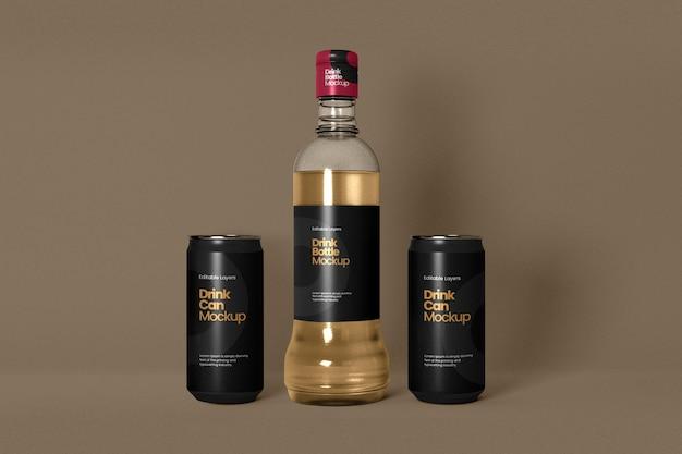 Einzelweinflaschenmodell mit doppeldose vorderansicht