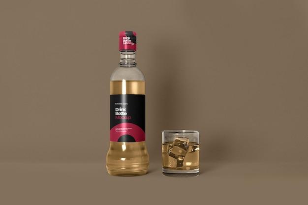 Einzelweinflaschenmodell mit glasfrontansicht