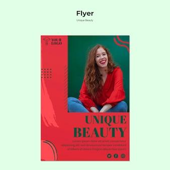 Einzigartiger beauty-flyer
