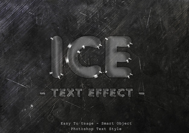 Eis textstil effekt