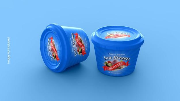 Eiscremedose oder becherverpackungsmodell