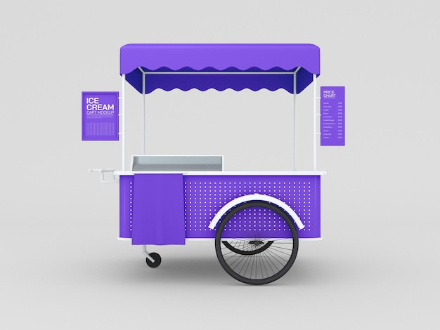 Eiswagen-mockup