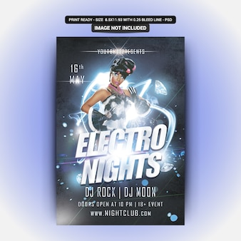 Electro nächte party flyer
