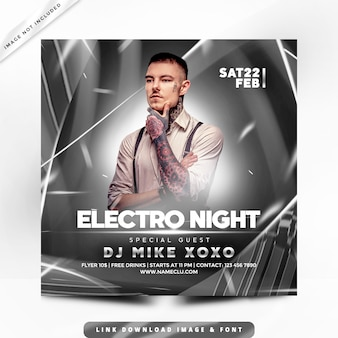 Electro nights party premium poster