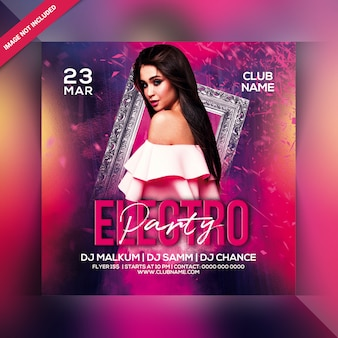 Electro-party-flyer