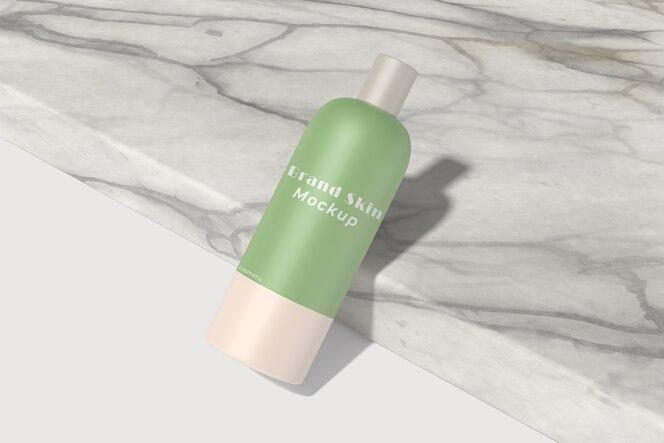 Elegante Creme Kosmetikflasche Produktmodell