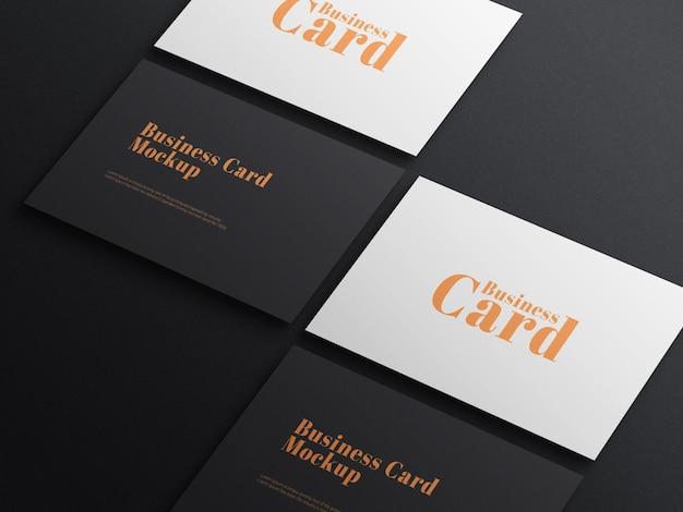 Elegante dunkle visitenkarte psd mockup