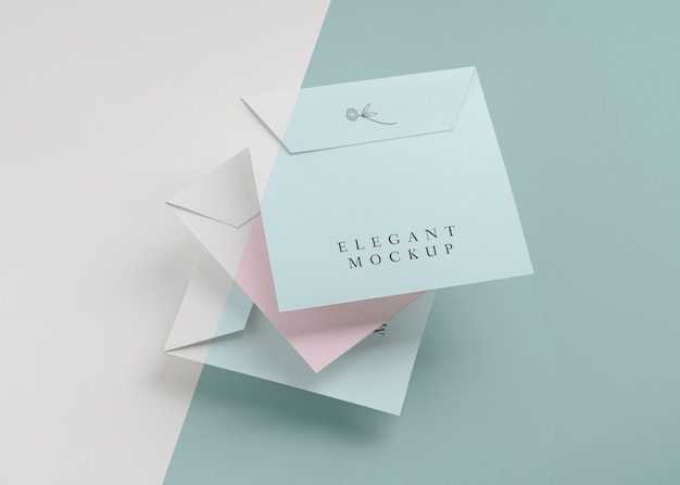 Elegante einladungs-mock-up-komposition