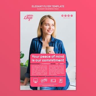 Elegante flyer vorlage für unternehmen