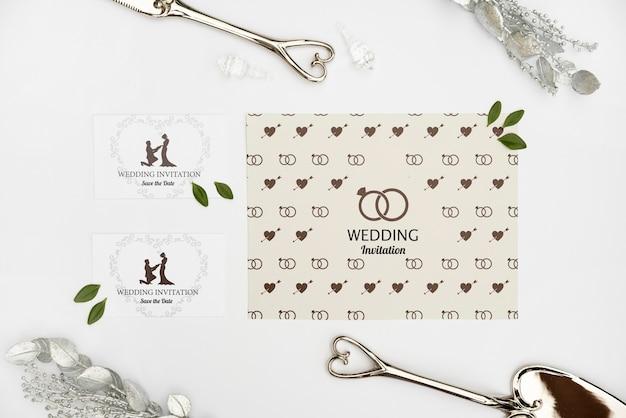 Elegante hochzeitseinladungskarten