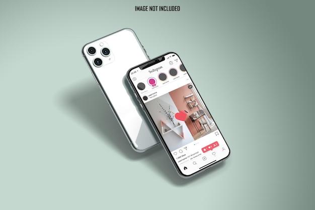 Elegante smartphone-modell instagram-geschichte