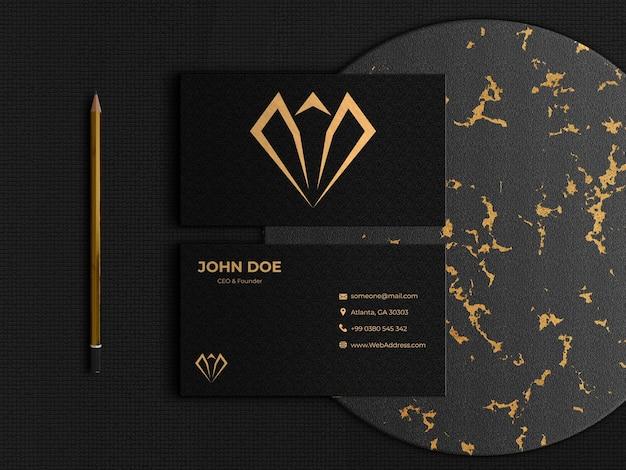 Elegante und luxuriöse zweiseitige visitenkarte