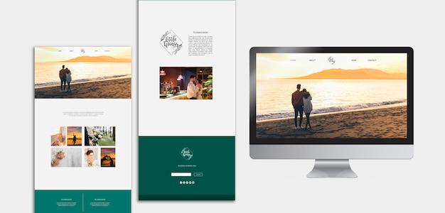 Elegante website-vorlagen für die hochzeit