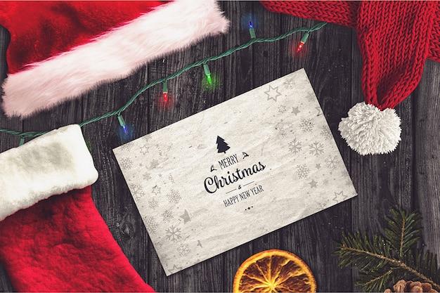 Elegante weihnachtskarte