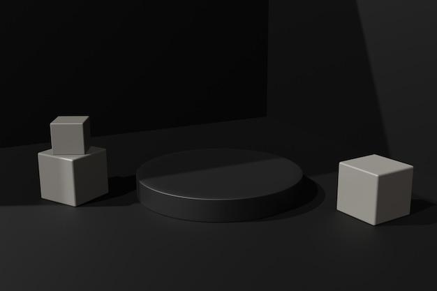 Eleganter 3d-rendering-podest-bühnenhintergrund