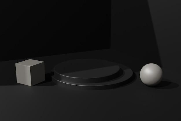 Eleganter 3d-rendering-podiumsszenenhintergrund