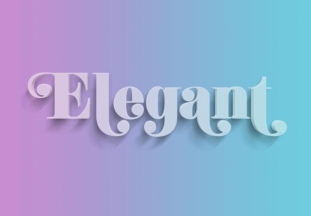Eleganter 3d rosa und blauer text