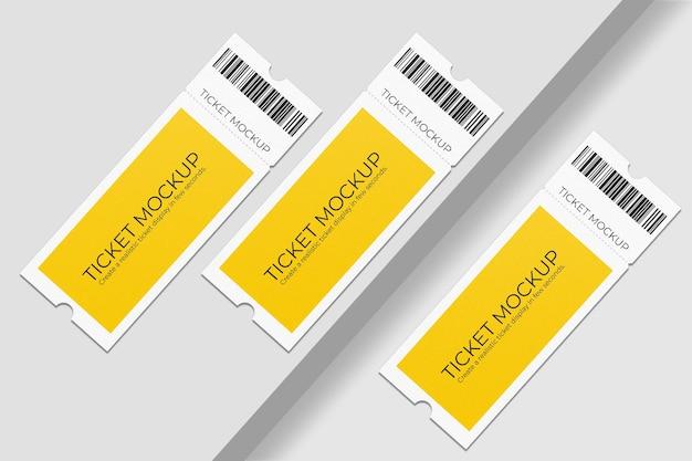 Eleganter gutschein oder ticketmodellentwurf