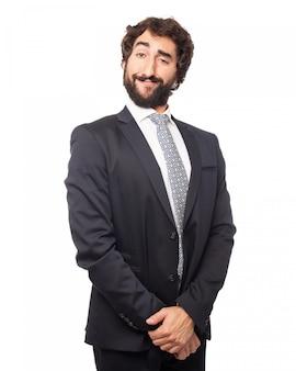 Eleganter mann posiert