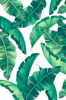 Eleganter tropischer druck mit schönen blättern