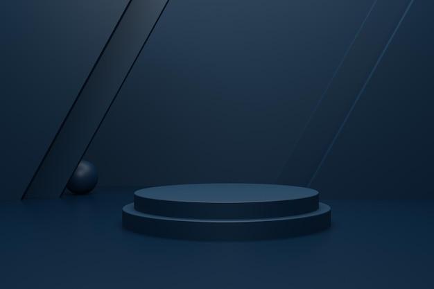 Elegantes 3d-renderpodium für die produktpräsentation