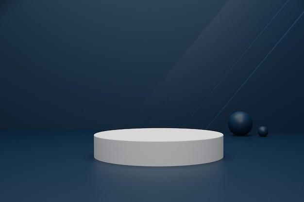 Elegantes 3d-renderpodium für produktwerbung