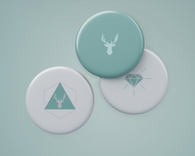 Elegantes abzeichen-modell für das merchandising