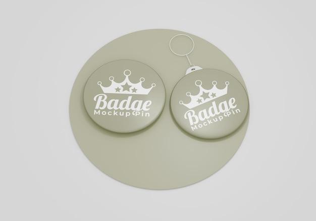 Elegantes badge-mockup für accessoires