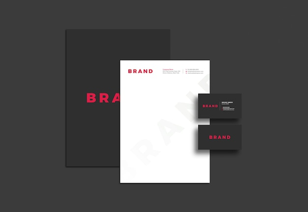 Elegantes briefpapiermodell