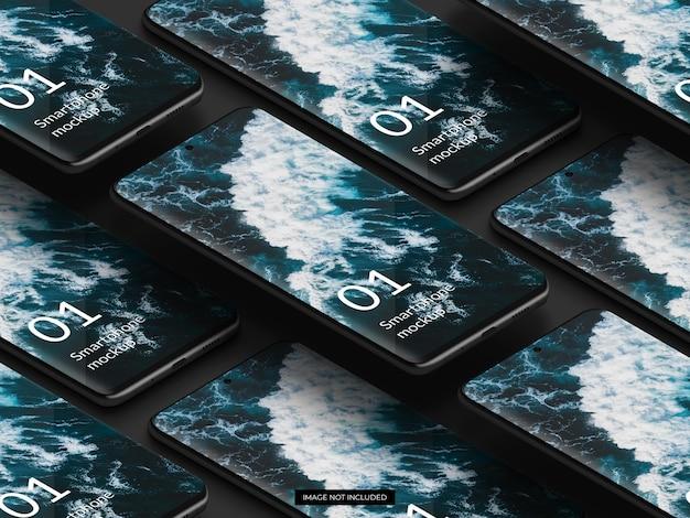 Elegantes design des schwarzen smartphone-modells