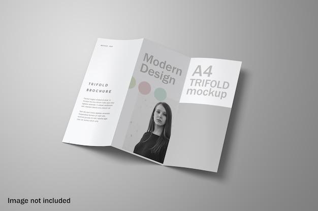 Elegantes dreifach gefaltetes broschürenmodell