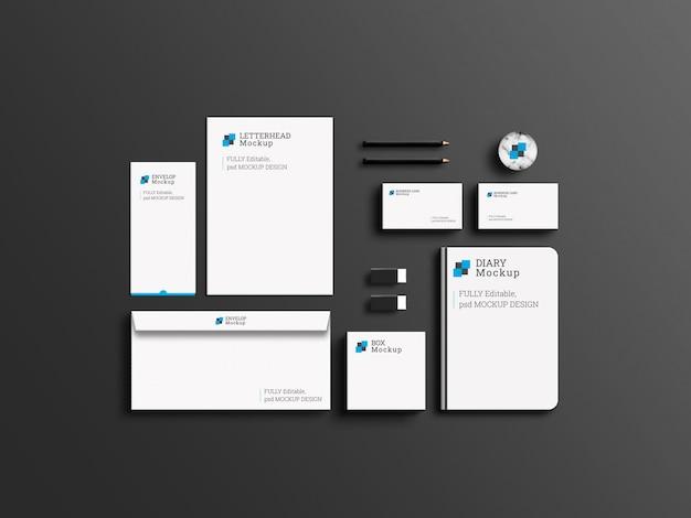 Elegantes firmen-branding-briefpapier-set-mockup