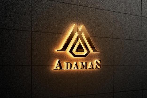 Elegantes hintergrundbeleuchtetes logo-zeichenmodell