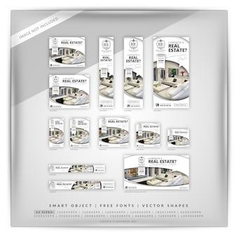 Elegantes immobilien-google-banner-set