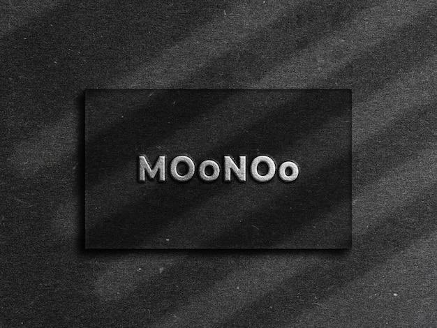 Elegantes logo-mockup in draufsicht