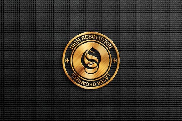 Elegantes logo-mockup mit goldeffekt
