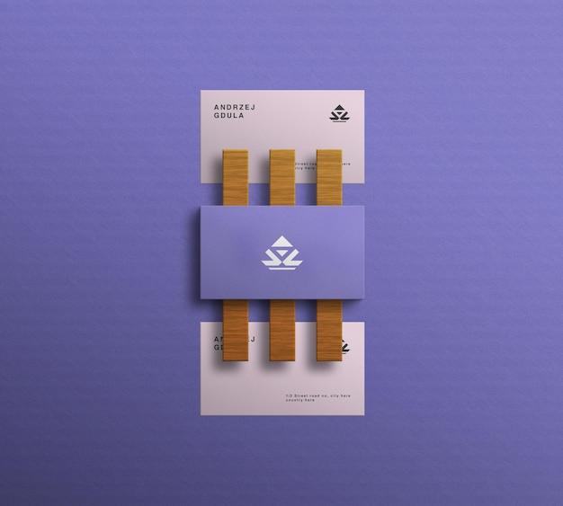 Elegantes minimalistisches visitenkartenmodell