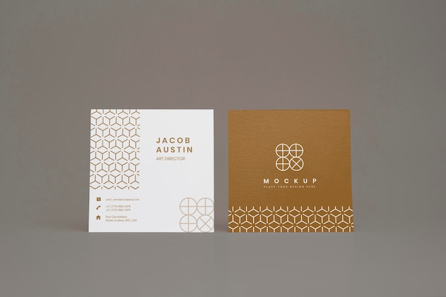 Elegantes mock-up für die firmenvisitenkarte