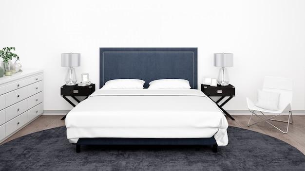 Elegantes schlafzimmer oder hotelzimmer mit klassischen möbeln