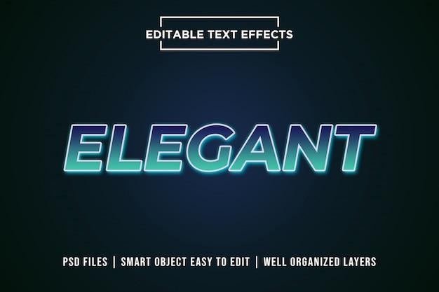 Elegantes text-effektmodell mit farbverlauf und bearbeitbarem text