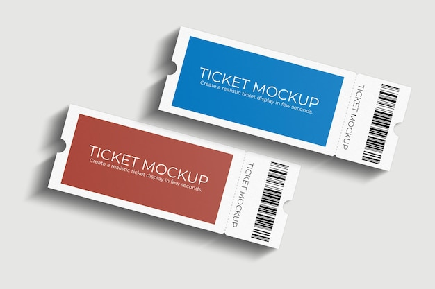 Elegantes ticketmodell-design