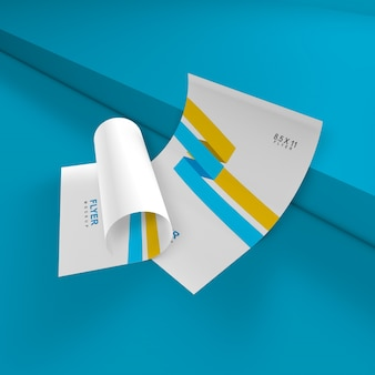 Elegantes und einfaches flyer-modell