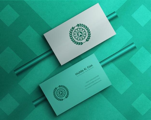 Elegantes und luxuriöses visitenkartenmodell