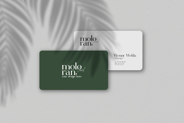 Elegantes und minimalistisches visitenkartenmodell Premium PSD