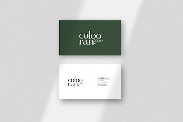 Elegantes und minimalistisches visitenkartenmodell