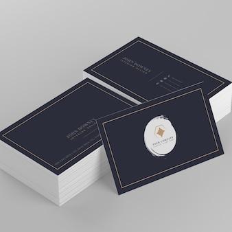 Elegantes visitenkartemodell mit zwei stapeln