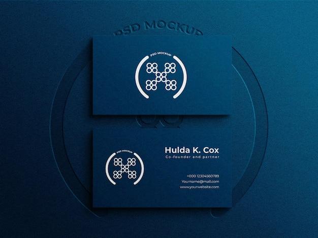 Elegantes visitenkarten-mockup-design