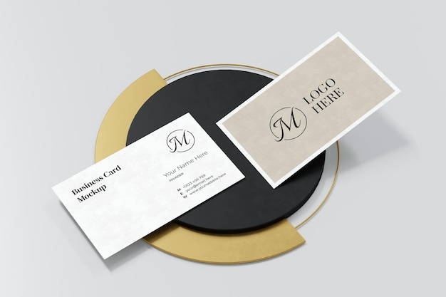Elegantes visitenkarten-modelldesign in der 3d-darstellung