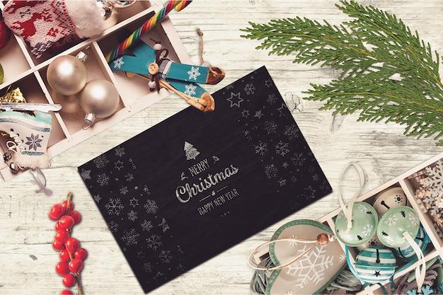 Elegantes weihnachtskartenmodell